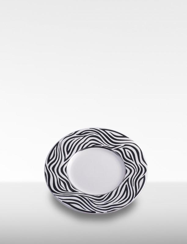 Piatto piano zebrato